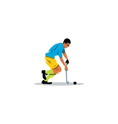 Field Hockey player sign vector