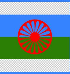 flag of romani people close up vector image