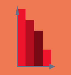 Flat icon on theme arabic business economic chart vector