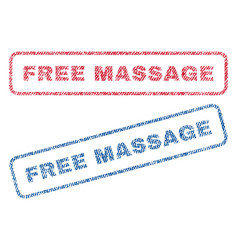 free massage textile stamps vector image