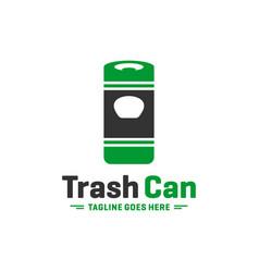 garbage disposal box modern logo vector image