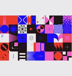 generative design artwork abstract technology vector image