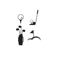 golf logo design template vector image