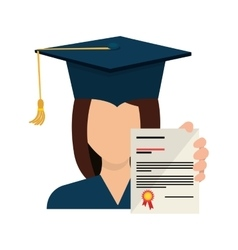 Graduation hat element icon vector