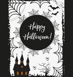 halloween poster happy halloween templates for vector image