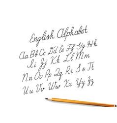 hand drawin alphabet vector image