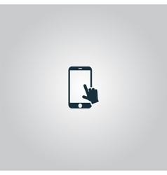 hand slide smartphone vector image
