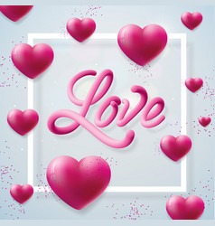 Happy valentines day with love letter vector