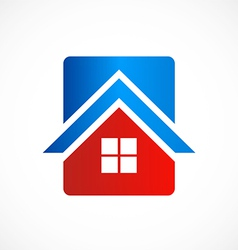 House icon abstract logo vector
