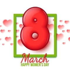 International Womens Day March 8 volume eight vector