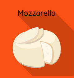 Isolated object cheese and mozzarella logo vector