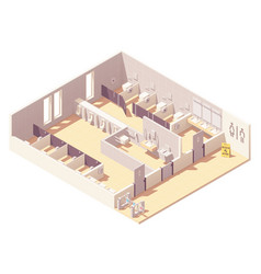 Isometric public pay toilet vector