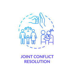 Joint conflict resolution concept icon vector