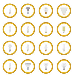 light bulb icon circle vector image