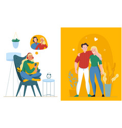 Lonely and together composition vector