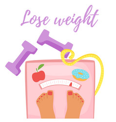 losing weight concept vector image