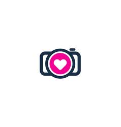 love camera logo icon design vector image