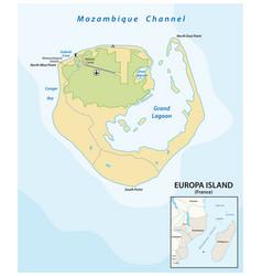 map french overseas territory europe island vector image