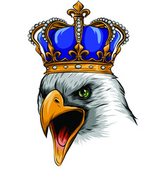 Mascot with crowned american eagle vector