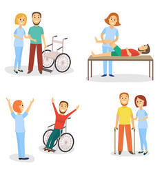 Medical rehabilitation physical therapy healing vector
