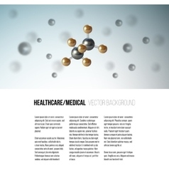 Medical scientific cell Abstract graphic design vector image