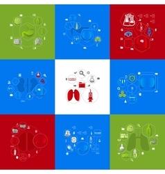 medicine sticker infographic vector image