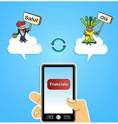 Mobile web translate app concept vector