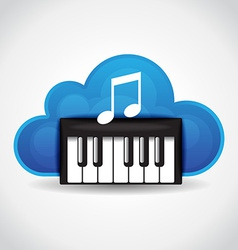 Music cloud vector