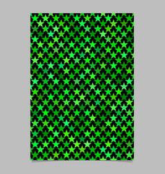 Pentagram star pattern brochure design - document vector