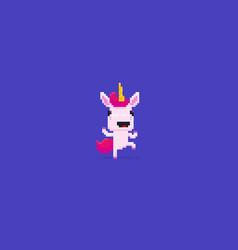 Pixel art unicorn vector