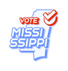 Presidential vote in mississippi usa 2020 state vector