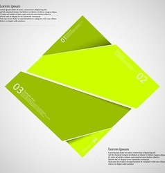 Rectangle infographic template divided to four vector