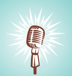 Retro microphone symbol vector