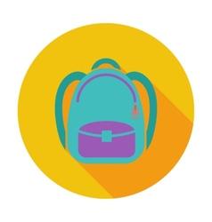 Schoolbag flat icon vector image
