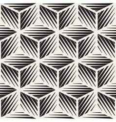 Seamless cube shape lines engravement vector