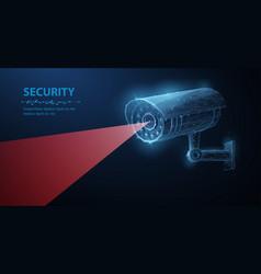 security camera low pole vector image
