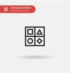shapes simple icon symbol vector image