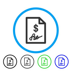 signed invoice rounded icon vector image