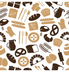 simple bakery items icons seamless color pattern vector image
