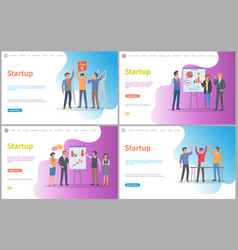 startup presentation new business ideas web vector image