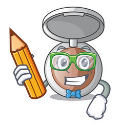 Student powder makeup isolated in the mascot vector