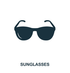 sunglasses icon mobile app printing web site vector image