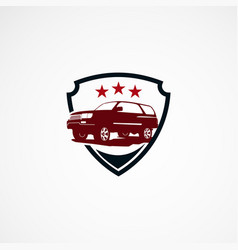 Suv car secure with star logo designs concept for vector