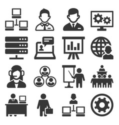 system administrator and operator icons set vector image