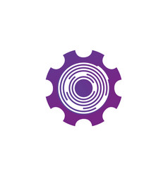 technical cog or gear wheel with futuristic vector image