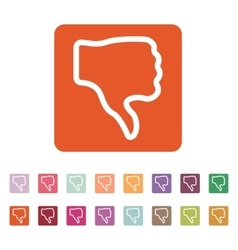 The thumb down icon Rejected and no negative vector image