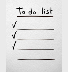 to do list hand drawn planner on a white vector image