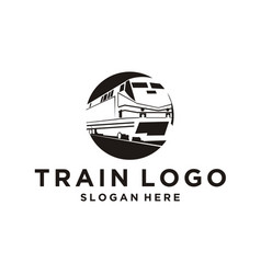 train logo design inspiration vector image