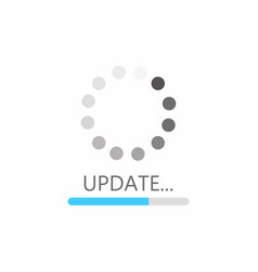Update icon system software upgrade concept vector