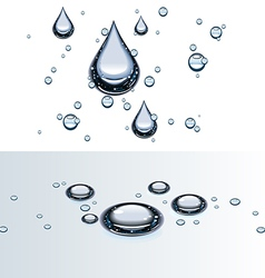 Water droplets on glass vector